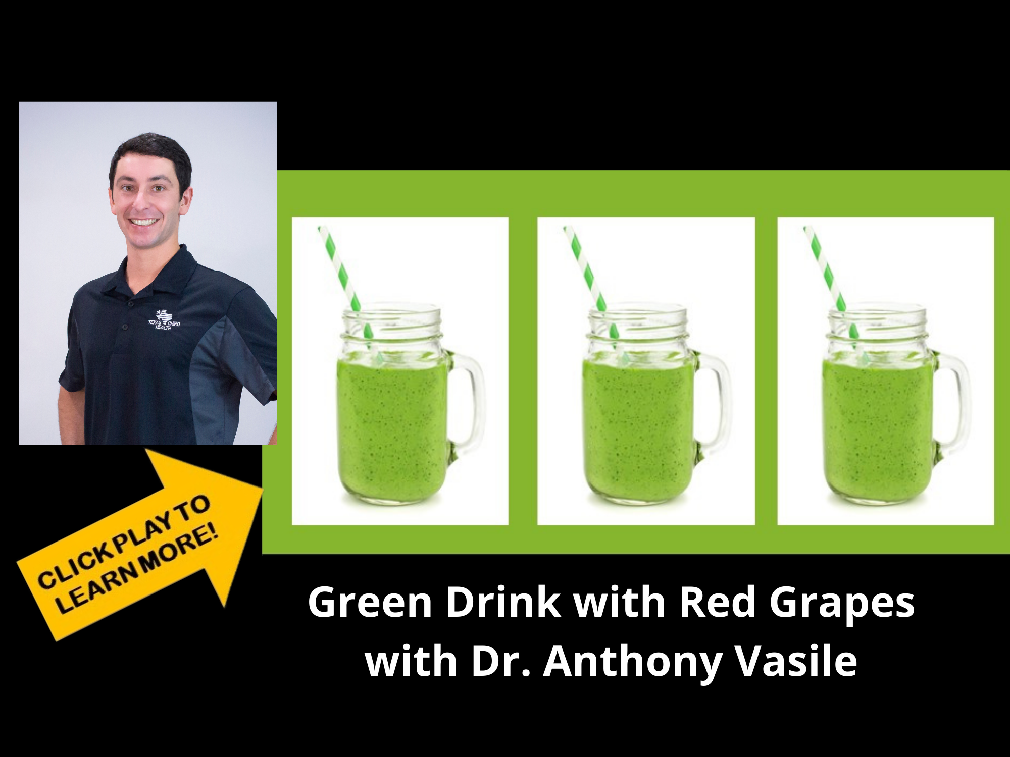 Green Drink with Red Grapes